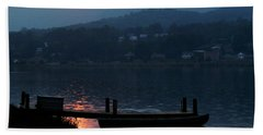 Lake J Sunset Beach Towel by Craig T Burgwardt