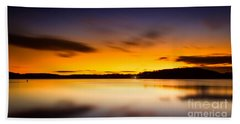 Lake Lanier Sunrise Beach Towel