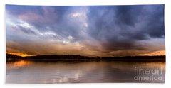 Lake Lanier Sunset Beach Towel
