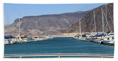 Lake Mead From The Marina Beach Towel by Amy Gallagher