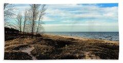Beach Sheet featuring the photograph Lake Michigan Shoreline by Lauren Radke
