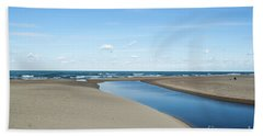 Lake Michigan Waterway  Beach Towel by Verana Stark