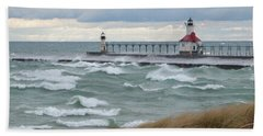 Lake Michigan Winds Beach Towel