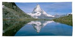 Lake, Mountains, Matterhorn, Zermatt Beach Towel