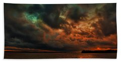 Lake Murray Fire Sky Beach Towel