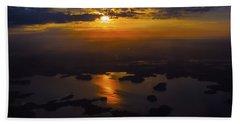 Lake Norman Sunrise Beach Towel by Greg Reed