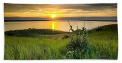 Lake Oahe Sunset Beach Towel