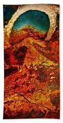 Lake Of Lava Beach Towel by Leanna Lomanski