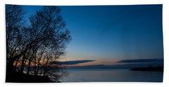 Beach Towel featuring the photograph Lake Ontario Blue Hour by Georgia Mizuleva