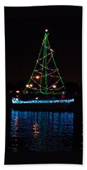 West End Boat Parade - Lights On The Lake, Lake Pontchartrain, New Orleans La Beach Sheet