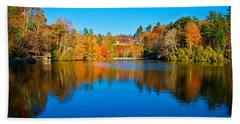 Beach Towel featuring the photograph Lake Reflections by Alex Grichenko