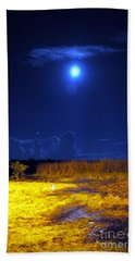 Moonrise Over Rochelle - Portrait Beach Sheet
