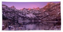 Beach Towel featuring the photograph Lake Sabrina Sunrise Eastern Sierras California by Dave Welling