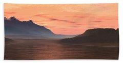 Lake Sunset 1 Beach Towel