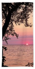 Lake Sunset Beach Towel by Aimee L Maher Photography and Art Visit ALMGallerydotcom