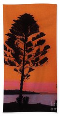 Beach Towel featuring the drawing Lake Sunset by D Hackett