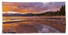 Beach Towel featuring the photograph Lake Tahoe by Mae Wertz