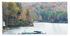 Lake Toxaway In The Fall Beach Towel