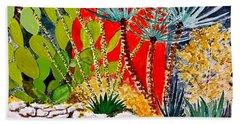 Lake Travis Cactus Garden Beach Towel