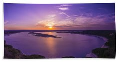 Lake Travis Sunset Beach Towel