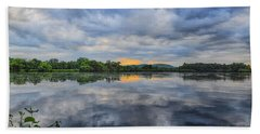 Lake Wausau Summer Sunset Panoramic Beach Towel