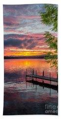 Lake Winnisquam Sunrise 2 Beach Towel by Mike Ste Marie