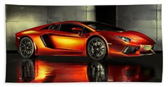 Lamborghini Aventador Beach Sheet by Movie Poster Prints