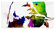 Lamborghini Bull Emblem Colorful Abstract. Beach Sheet