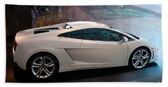 Lamborghini Gallardo Lp550-2 Side View Beach Sheet