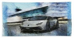 Lamborghini Huracan Beach Sheet by Mario Carini
