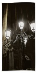 Lamp Light St Mark's Square Beach Towel