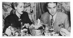 Lana Turner And Artie Shaw Beach Towel