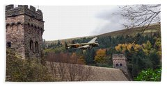 Lancaster Kc-a At The Derwent Dam Beach Towel