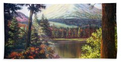 Landscape-lake And Trees Beach Towel