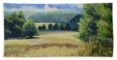 Landscape Near Russian Border Beach Towel