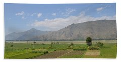 Beach Sheet featuring the photograph Landscape Of Mountains Sky And Fields Swat Valley Pakistan by Imran Ahmed