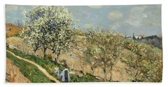 Landscape. Spring At Bougival Beach Towel