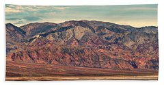 Landscape With Mountain Range Beach Towel by Panoramic Images