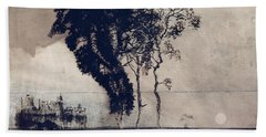 Landscape With Three Trees Beach Towel