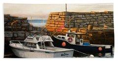 Lanes Cove Fishing Boats Beach Sheet