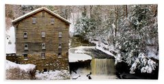 Lanterman's Mill In Winter Beach Sheet
