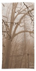 Lantern In The Rain Beach Towel by Miriam Danar