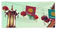 Lanterns Over Chinatown Beach Towel