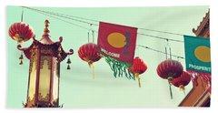 Lanterns Over Chinatown Beach Sheet