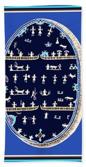 Beach Towel featuring the digital art Lappish Shaman's Ritual Drum by Vagabond Folk Art - Virginia Vivier