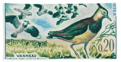 Lapwings Study Of Migration Museum Of Paris Beach Sheet by Lanjee Chee