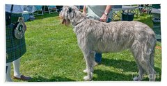 Large Irish Wolfhound Dog  Beach Towel