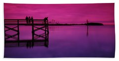 Last Sunset Beach Towel by Beverly Stapleton