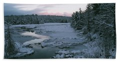 Beach Towel featuring the photograph Late Afternoon In Winter by David Porteus