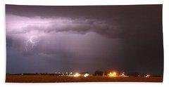 Beach Towel featuring the photograph Late Evening Nebraska Thunderstorm by NebraskaSC